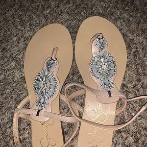 Brand New Jessica Simpson Jeweled Sandals